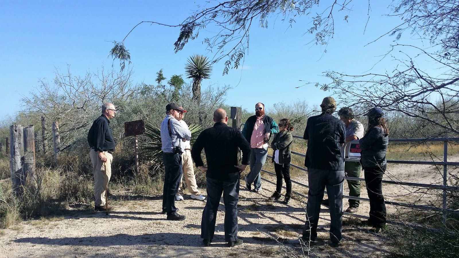 Discussion with project stakeholders on Palmito Ranch battlefield site
